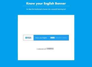 El British Council lanza el banner que te enseña inglés